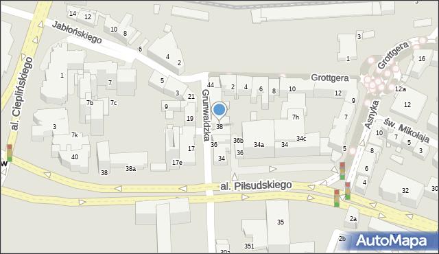 Rzeszów, Grunwaldzka, 38, mapa Rzeszów
