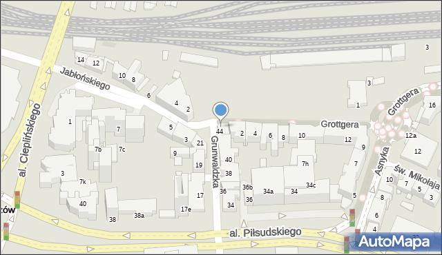 Rzeszów, Grunwaldzka, 50, mapa Rzeszów