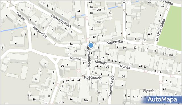 Rzeszów, Grunwaldzka, 6, mapa Rzeszów