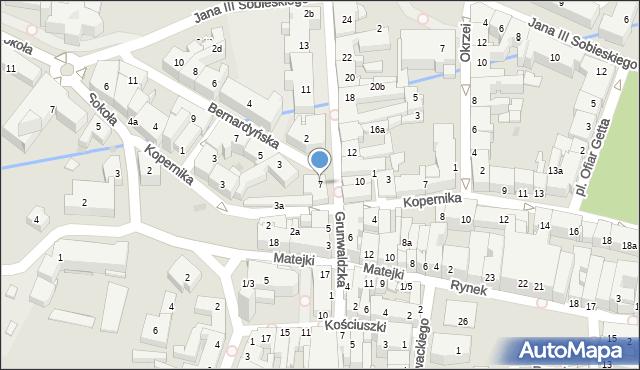 Rzeszów, Grunwaldzka, 7, mapa Rzeszów