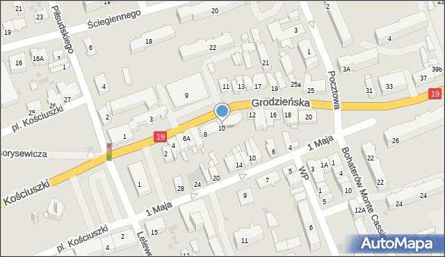 Sokółka, Grodzieńska, 10, mapa Sokółka