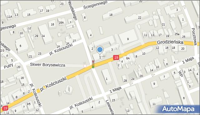 Sokółka, Grodzieńska, 1a, mapa Sokółka