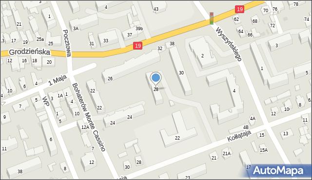 Sokółka, Grodzieńska, 28, mapa Sokółka