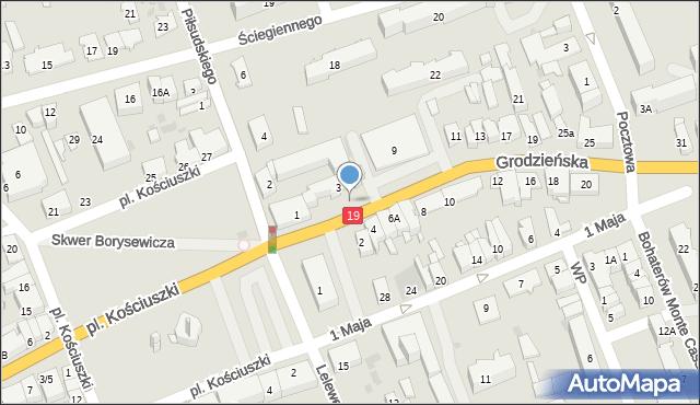Sokółka, Grodzieńska, 4a, mapa Sokółka