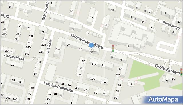 Sosnowiec, Grota-Roweckiego Stefana, gen., 10, mapa Sosnowca