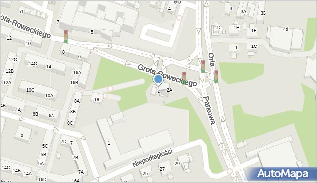 Sosnowiec, Grota-Roweckiego Stefana, gen., 2, mapa Sosnowca