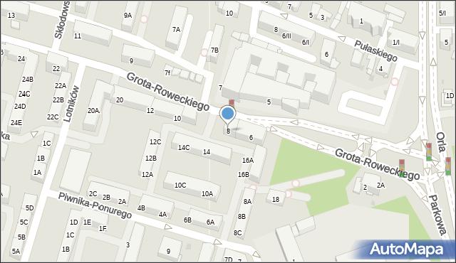 Sosnowiec, Grota-Roweckiego Stefana, gen., 8, mapa Sosnowca