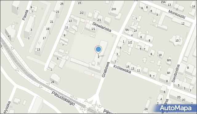 Sosnowiec, Grabowa, 2, mapa Sosnowca