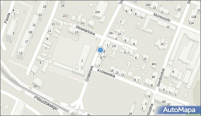 Sosnowiec, Grabowa, 3, mapa Sosnowca
