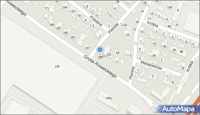 Sosnowiec, Grota-Roweckiego Stefana, gen., 155, mapa Sosnowca