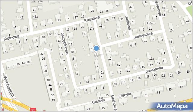 Toruń, Grabowa, 11, mapa Torunia