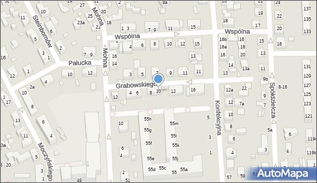 Toruń, Grabowskiego Antoniego, 10, mapa Torunia