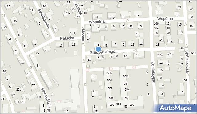 Toruń, Grabowskiego Antoniego, 4, mapa Torunia