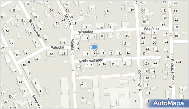 Toruń, Grabowskiego Antoniego, 5, mapa Torunia