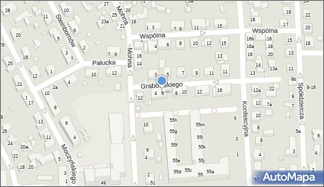 Toruń, Grabowskiego Antoniego, 6, mapa Torunia