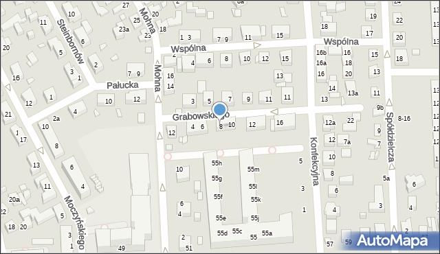 Toruń, Grabowskiego Antoniego, 8, mapa Torunia
