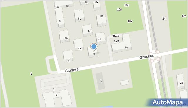 Toruń, Grasera Konrada, 6, mapa Torunia