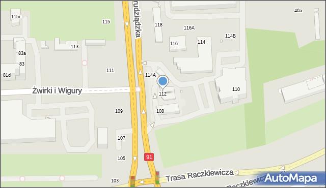 Toruń, Grudziądzka, 112, mapa Torunia