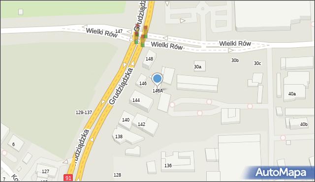 Toruń, Grudziądzka, 146A, mapa Torunia