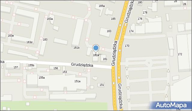 Toruń, Grudziądzka, 161a, mapa Torunia