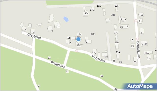 Toruń, Grzybowa, 13a, mapa Torunia