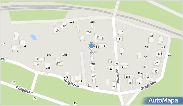 Toruń, Grzybowa, 23C, mapa Torunia
