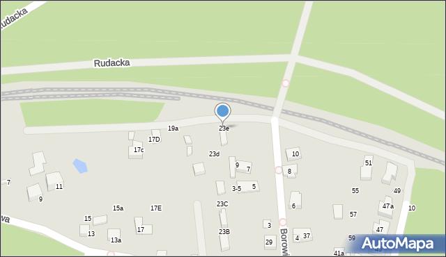 Toruń, Grzybowa, 23e, mapa Torunia
