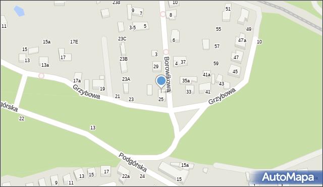 Toruń, Grzybowa, 27, mapa Torunia