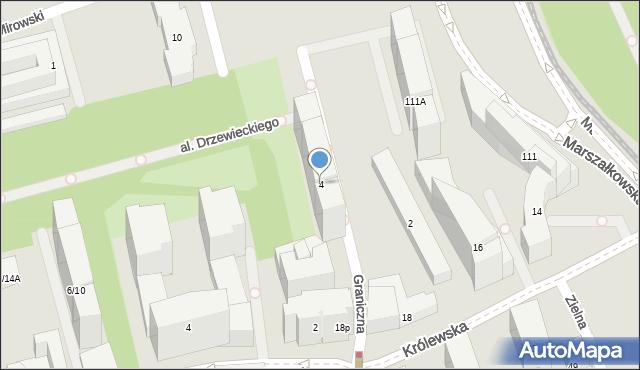 Warszawa, Graniczna, 4, mapa Warszawy