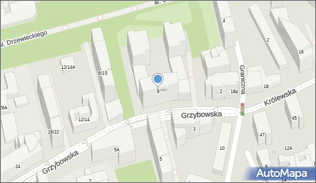 Warszawa, Grzybowska, 4, mapa Warszawy