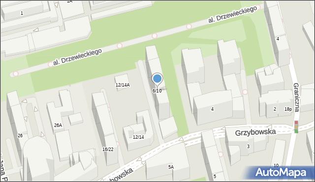Warszawa, Grzybowska, 6/10, mapa Warszawy