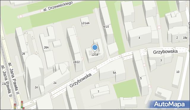 Warszawa, Grzybowska, 12/14, mapa Warszawy