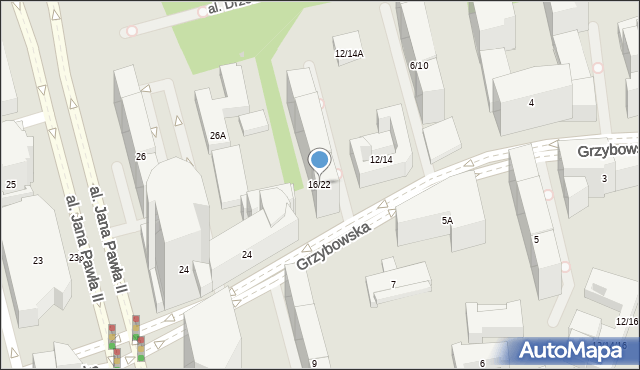 Warszawa, Grzybowska, 16/22, mapa Warszawy