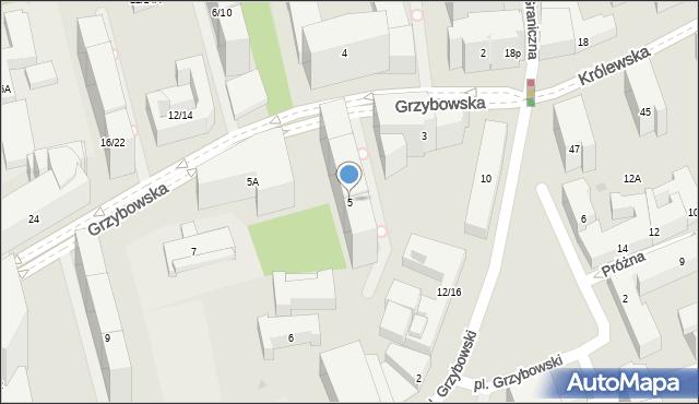 Warszawa, Grzybowska, 5, mapa Warszawy