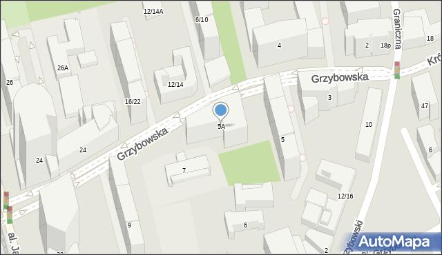 Warszawa, Grzybowska, 5A, mapa Warszawy
