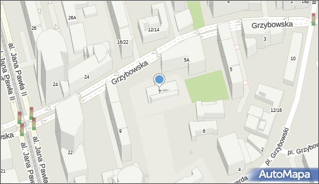 Warszawa, Grzybowska, 7, mapa Warszawy