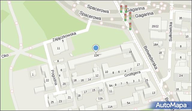 Warszawa, Grottgera Artura, 12A, mapa Warszawy