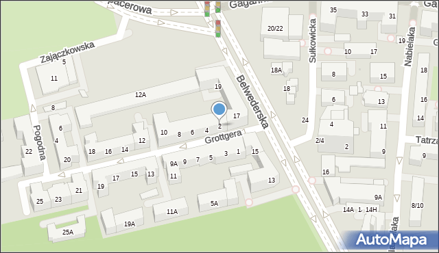 Warszawa, Grottgera Artura, 2, mapa Warszawy