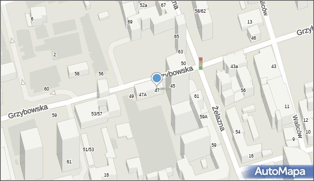 Warszawa, Grzybowska, 47, mapa Warszawy