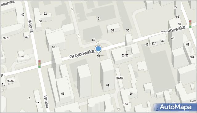 Warszawa, Grzybowska, 59, mapa Warszawy