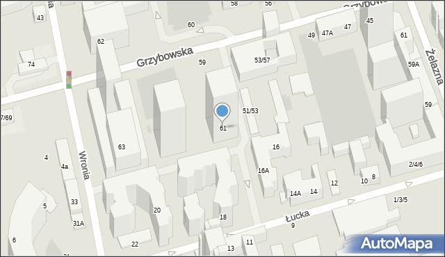 Warszawa, Grzybowska, 61a, mapa Warszawy