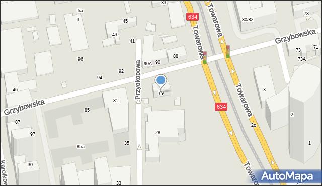 Warszawa, Grzybowska, 77, mapa Warszawy