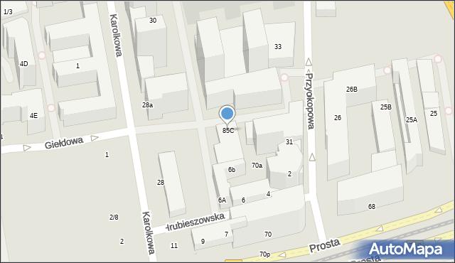Warszawa, Grzybowska, 85C, mapa Warszawy
