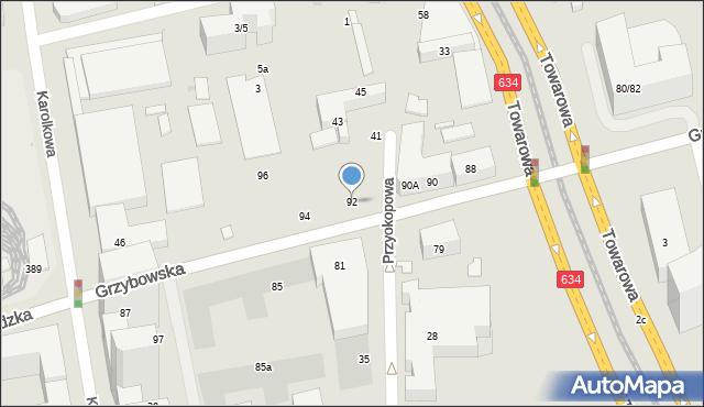 Warszawa, Grzybowska, 92, mapa Warszawy