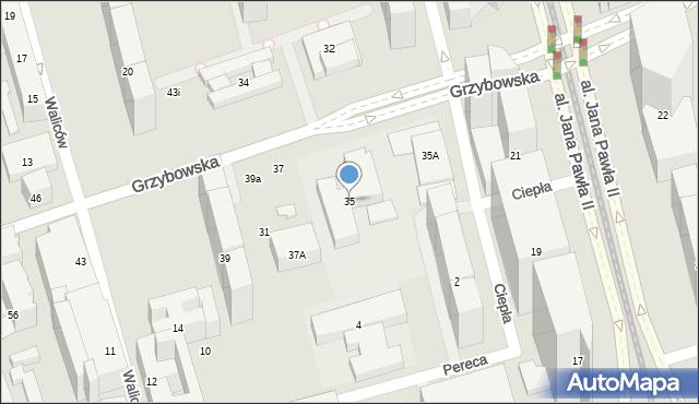 Warszawa, Grzybowska, 35, mapa Warszawy