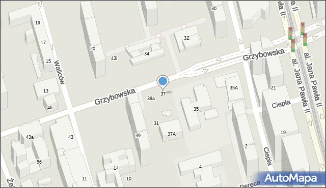 Warszawa, Grzybowska, 37, mapa Warszawy
