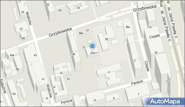 Warszawa, Grzybowska, 37A, mapa Warszawy