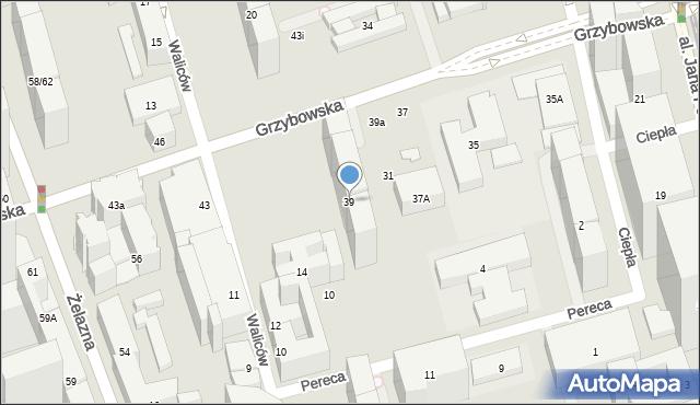 Warszawa, Grzybowska, 39, mapa Warszawy