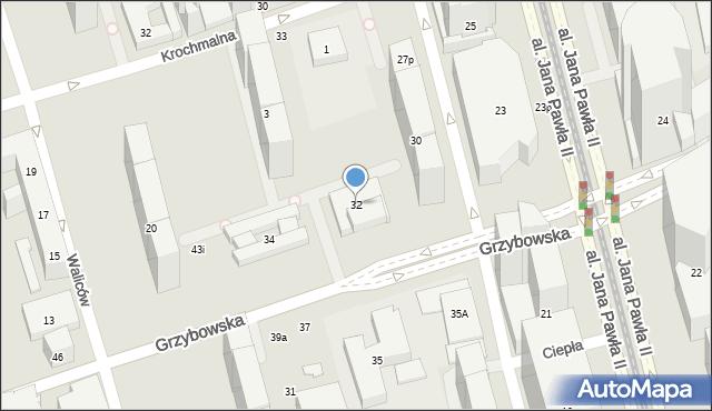 Warszawa, Grzybowska, 32, mapa Warszawy
