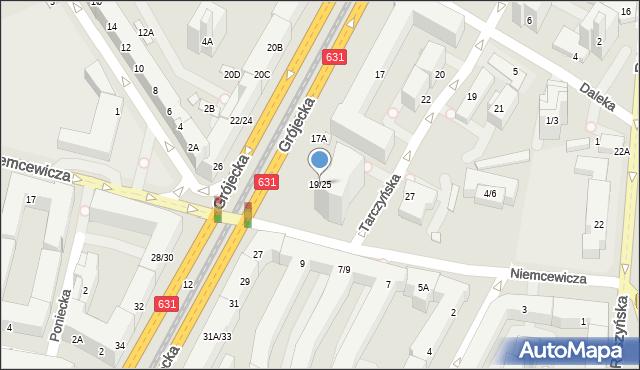 Warszawa, Grójecka, 19/25, mapa Warszawy